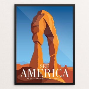 "Arches National Park by Jonathan Scheele 12"" by 16"" Print / Framed Print See America"