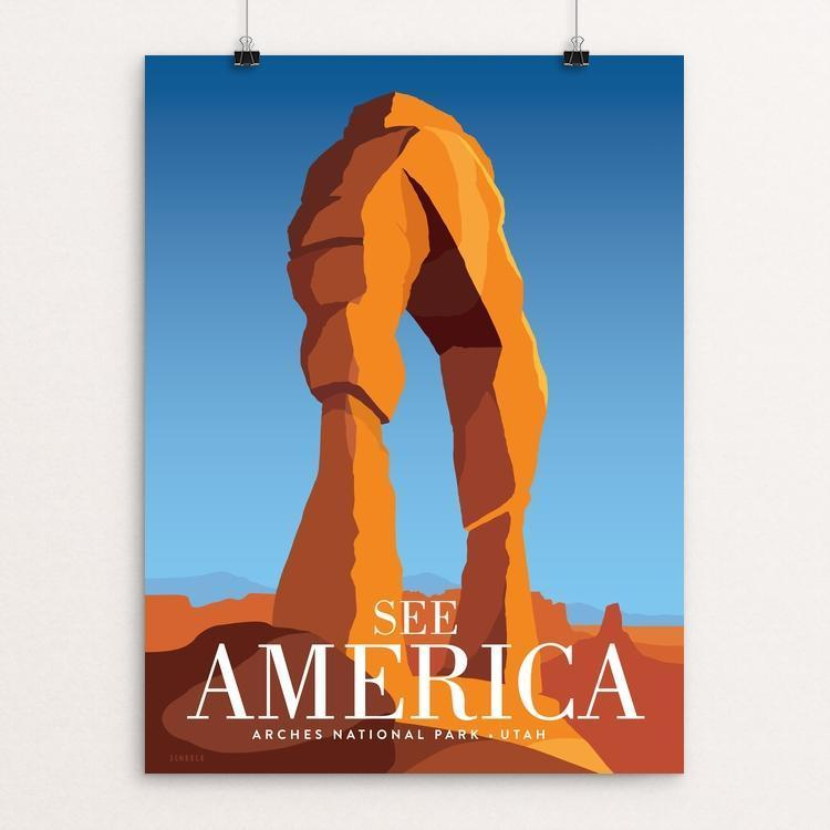 "Arches National Park by Jonathan Scheele 12"" by 16"" Print / Unframed Print See America"