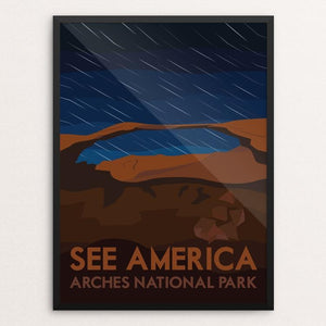 "Arches National Park by Liz Cook 12"" by 16"" Print / Framed Print See America"