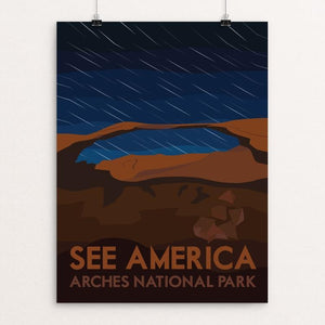 "Arches National Park by Liz Cook 12"" by 16"" Print / Unframed Print See America"