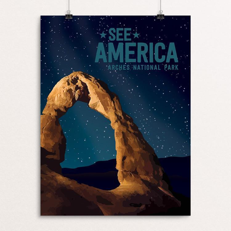 "Arches National Park by Mercedes Castaneda 12"" by 16"" Print / Unframed Print See America"