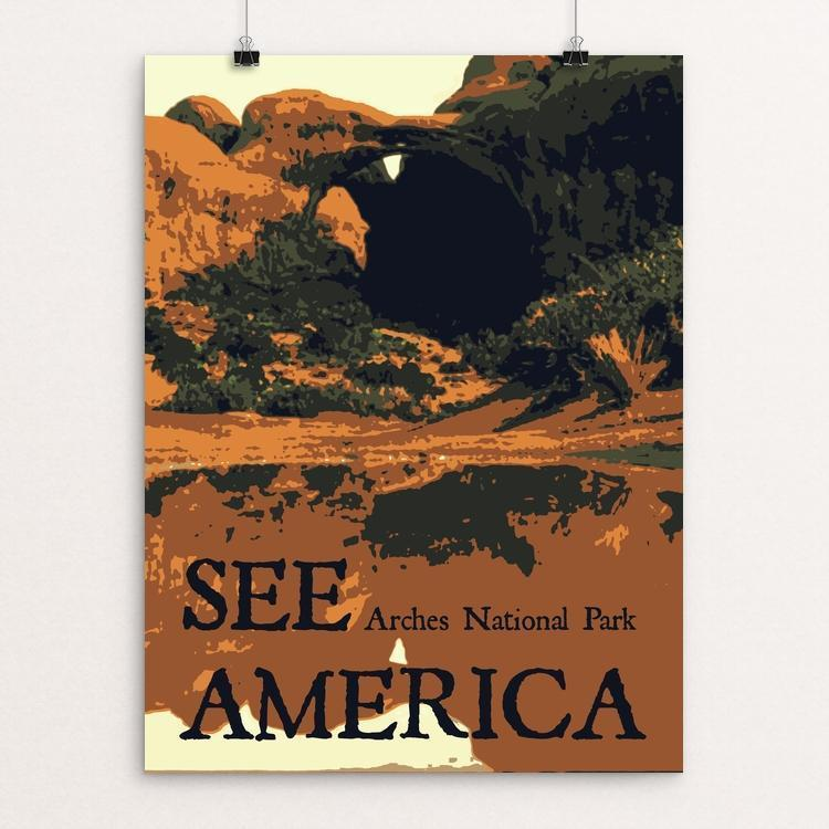 "Arches National Park by Rendall M. Seely 12"" by 16"" Print / Unframed Print See America"