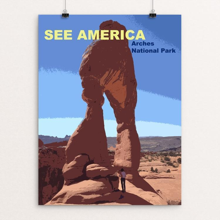 "Arches National Park by Zachary Bolick 12"" by 16"" Print / Unframed Print See America"