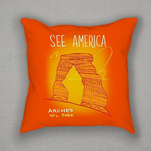 Arches National Park Pillow by Kendall