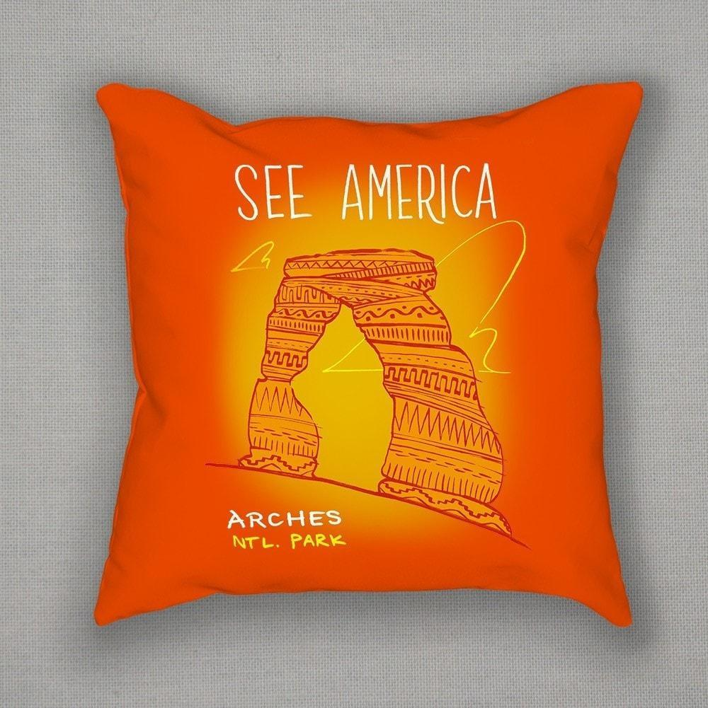 Arches National Park Pillow by Kendall Pillow See America
