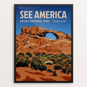 "Arches National Park, Skyline Arch by Phil Ah You 12"" by 16"" Print / Framed Print See America"