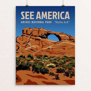 "Arches National Park, Skyline Arch by Phil Ah You 12"" by 16"" Print / Unframed Print See America"