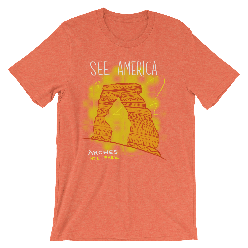 Arches National Park Men's T-Shirt by Kendall