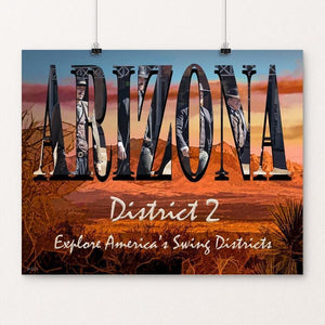 "Arizona District 2 by Sheri Emerson 20"" by 16"" Print / Unframed Print Postcards from America's Swing Districts"
