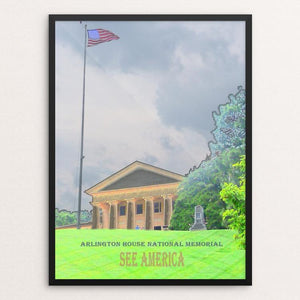 "Arlington House, The Robert E. Lee Memorial by Bryan Bromstrup 12"" by 16"" Print / Framed Print See America"