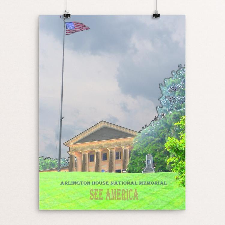 "Arlington House, The Robert E. Lee Memorial by Bryan Bromstrup 12"" by 16"" Print / Unframed Print See America"