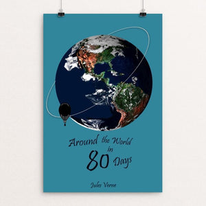 "Around The World in 80 Days by Bryan Bromstrup 12"" by 18"" Print / Unframed Print Recovering the Classics"