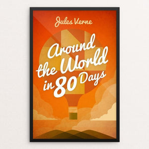 "Around the World in 80 Days by Marcos Arevalo 12"" by 18"" Print / Framed Print Recovering the Classics"