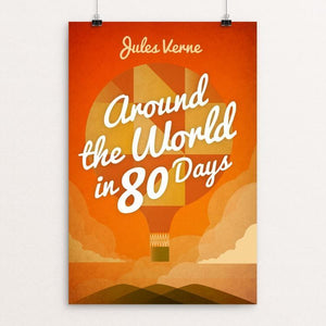 "Around the World in 80 Days by Marcos Arevalo 12"" by 18"" Print / Unframed Print Recovering the Classics"