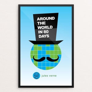 "Around the World in 80 Days by Robert Wallman 12"" by 18"" Print / Framed Print Recovering the Classics"