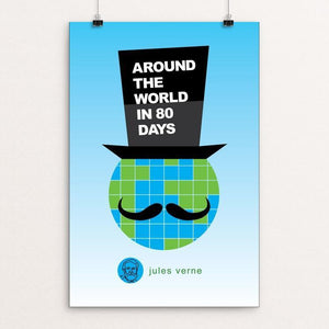 "Around the World in 80 Days by Robert Wallman 12"" by 18"" Print / Unframed Print Recovering the Classics"