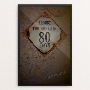 "Around the World in 80 Days by Taylor Wiens 12"" by 18"" Print / Framed Print Recovering the Classics"