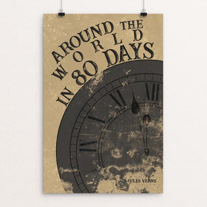 "Around the World in 80 Days by Taylor Wiens 12"" by 18"" Print / Unframed Print Recovering the Classics"