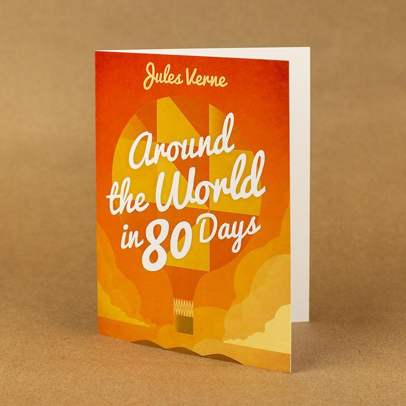 Around the World in 80 Days Notecard by Marcos Arevalo