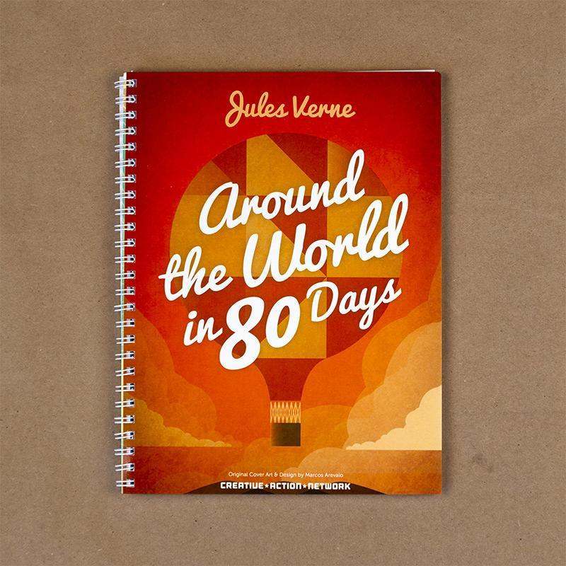 Around the World in 80 Days Spiral Notebook by Marcos Arevalo
