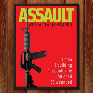 "ASSAULT with a Deadly Weapon in Orlando by Chris Lozos 12"" by 16"" Print / Framed Print The Gun Show"