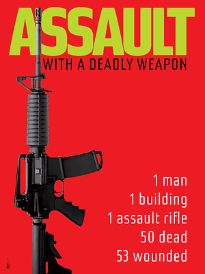 "ASSAULT with a Deadly Weapon in Orlando by Chris Lozos 12"" by 16"" Print / Unframed Print The Gun Show"
