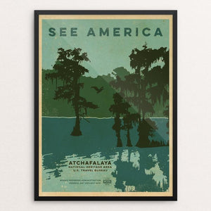 "Atchafalaya National Wildlife Refuge by Jeremy Grassman 12"" by 16"" Print / Framed Print See America"