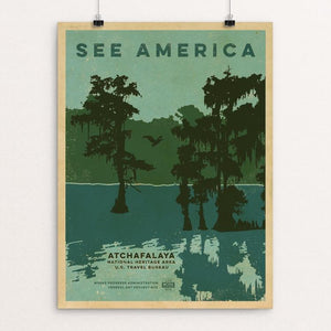 "Atchafalaya National Wildlife Refuge by Jeremy Grassman 12"" by 16"" Print / Unframed Print See America"