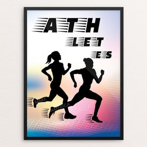 "Athletes by Marie Murphy 12"" by 16"" Print / Framed Print What Makes America Great"