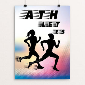 "Athletes by Marie Murphy 12"" by 16"" Print / Unframed Print What Makes America Great"