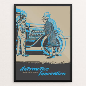 "Automotive Innovation by Darrell Stevens 12"" by 16"" Print / Framed Print What Makes America Great"