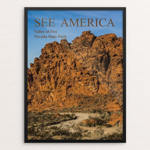 "Aztec sandstone formation in Valley of Fire State Park, Nevada by michael burke 12"" by 16"" Print / Framed Print See America"