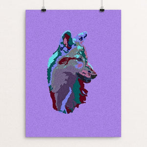 "Baby Wolf by Anthony Chiffolo 18"" by 24"" Print / Unframed Print Join the Pack"