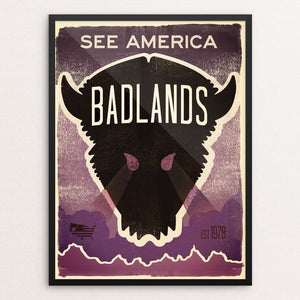 "Badlands National Park 2 by Matt Brass 12"" by 16"" Print / Framed Print See America"