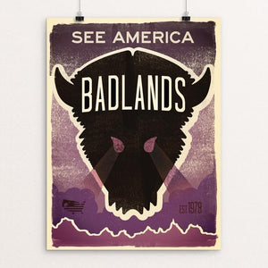 "Badlands National Park 2 by Matt Brass 12"" by 16"" Print / Unframed Print See America"