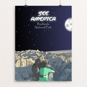 "Badlands National Park by Allan Gonzalez 12"" by 16"" Print / Unframed Print See America"