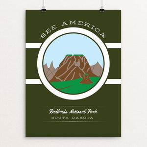 "Badlands National Park by Brandon Kish 12"" by 16"" Print / Unframed Print See America"