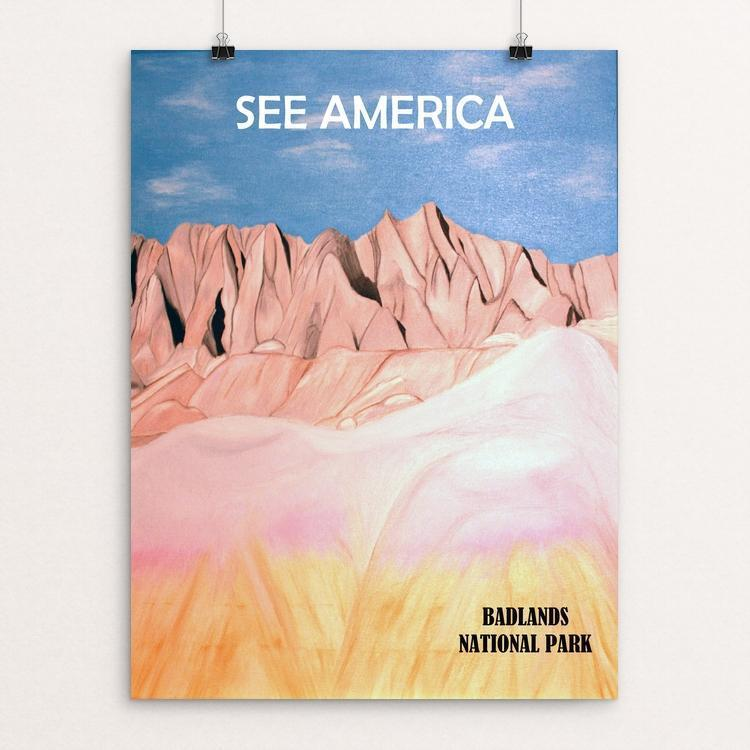 "Badlands National Park by Bryan Bromstrup 12"" by 16"" Print / Unframed Print See America"