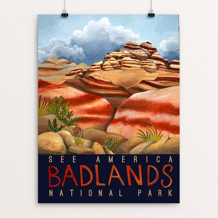 "Badlands National Park by djohariah 12"" by 16"" Print / Unframed Print See America"