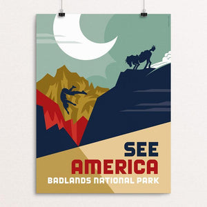 "Badlands National Park by Luis Prado 12"" by 16"" Print / Unframed Print See America"