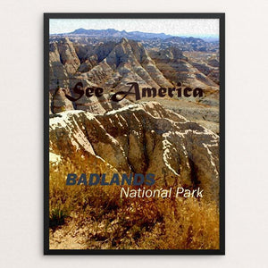 "Badlands National Park by Melody Gilmore 18"" by 24"" Print / Framed Print See America"