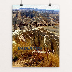 "Badlands National Park by Melody Gilmore 18"" by 24"" Print / Unframed Print See America"