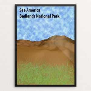 "Badlands National Park by William Liu 18"" by 24"" Print / Framed Print See America"