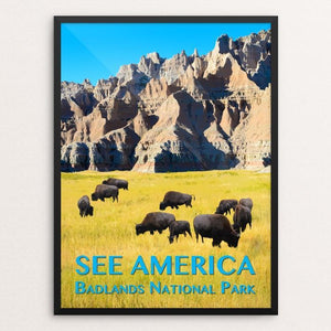 "Badlands National Park by Zack Frank 12"" by 16"" Print / Framed Print See America"