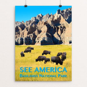 "Badlands National Park by Zack Frank 12"" by 16"" Print / Unframed Print See America"