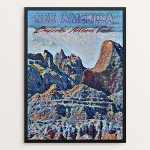"Badlands Wilderness by Bryan Bromstrup 12"" by 16"" Print / Framed Print See America"