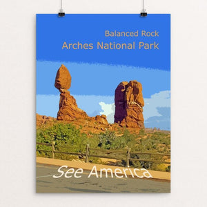"Balanced Rock, Arches National Park by Rodney Buxton 12"" by 16"" Print / Unframed Print See America"