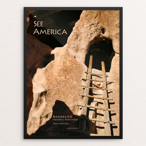 "Bandelier National Monument by Jane Rohling 12"" by 16"" Print / Framed Print See America"