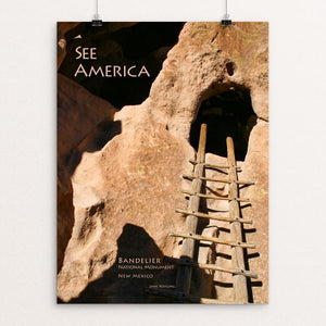 "Bandelier National Monument by Jane Rohling 12"" by 16"" Print / Unframed Print See America"