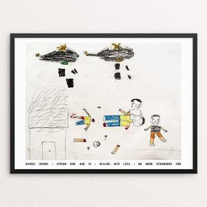 "Barrel Bombs by David Gross 12"" by 16"" Print / Framed Print We Were Strangers Too"